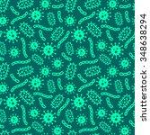 microbes seamless green pattern | Shutterstock .eps vector #348638294