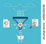 analytics for sales funnel | Shutterstock .eps vector #348638438