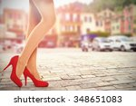 summer photo in portofino port... | Shutterstock . vector #348651083