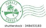 Green Postal Grunge Stamp '...