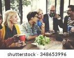 people meeting friendship... | Shutterstock . vector #348653996