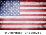 vintage american flag | Shutterstock . vector #348655253