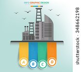 industry concept and label for... | Shutterstock .eps vector #348662198