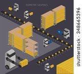 logistics concept  warehouse... | Shutterstock . vector #348665396