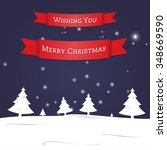 merry christmas greeting card... | Shutterstock .eps vector #348669590
