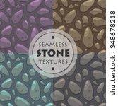 stone vector textures set ...