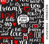 seamless vector vintage pattern.... | Shutterstock .eps vector #348682346