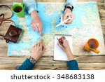 planning a trip to amsterdam... | Shutterstock . vector #348683138