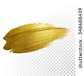 vector gold paint smear stroke... | Shutterstock .eps vector #348688439