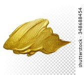 vector gold paint smear stroke... | Shutterstock .eps vector #348688454