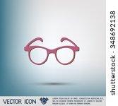 glasses icon | Shutterstock .eps vector #348692138