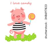 vector illustration of cute... | Shutterstock .eps vector #348697823