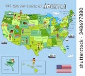 usa pictures with federal... | Shutterstock .eps vector #348697880