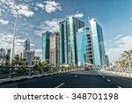speeding up in dubai streets.   Shutterstock . vector #348701198
