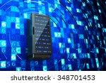 data center  network server ... | Shutterstock . vector #348701453