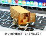 e commerce  packages delivery ... | Shutterstock . vector #348701834