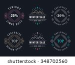 collection of label design | Shutterstock .eps vector #348702560