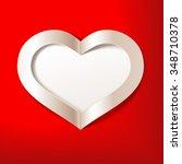 red valentine's day background... | Shutterstock .eps vector #348710378