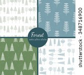 forest trees seamless patterns... | Shutterstock .eps vector #348716900