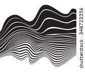 black and white mobious wave...   Shutterstock . vector #348723356