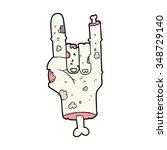 freehand drawn cartoon zombie... | Shutterstock .eps vector #348729140