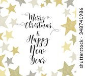 merry christmas hand drawn... | Shutterstock .eps vector #348741986
