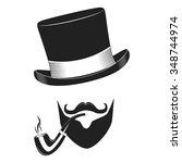 vintage gentlemen club logo ... | Shutterstock .eps vector #348744974