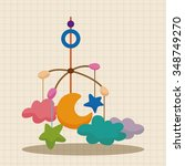 baby hanging theme elements | Shutterstock .eps vector #348749270