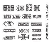 asian ornament  korean  chinese ... | Shutterstock .eps vector #348752600