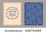 retro card design. vintage... | Shutterstock .eps vector #348754589