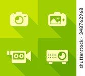 vector flat icons   visual media