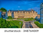 Saint lamberts in front of former palace of the prince bishops in Liege, Belgium, Benelux, HDR