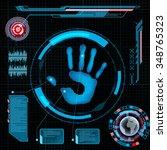 scanning human palm. interface...