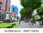 Singapore Nov 18  Sidewalk Of...