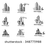 building icon set. abstract... | Shutterstock .eps vector #348775988