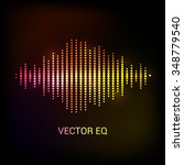 single colorful eq  equalizer... | Shutterstock .eps vector #348779540