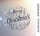 vintage christmas greeting card ... | Shutterstock .eps vector #348783200