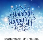vintage christmas greeting card ... | Shutterstock .eps vector #348783206