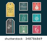 colorful gift tags and labels... | Shutterstock .eps vector #348786869
