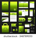 corporate identity template set.... | Shutterstock .eps vector #348789053
