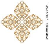 premium gold vintage baroque... | Shutterstock .eps vector #348796934