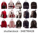 women backpacks front  side ... | Shutterstock . vector #348798428