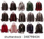 women backpacks rear view... | Shutterstock . vector #348798434