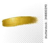 vector gold paint smear stroke... | Shutterstock .eps vector #348800390