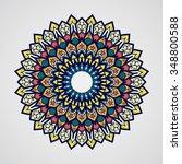 mandala. vintage decorative... | Shutterstock .eps vector #348800588