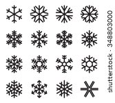 simple snowflake icons. symbols ... | Shutterstock .eps vector #348803000