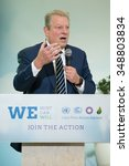 Small photo of LE BOURGET near PARIS, FRANCE - DECEMBER 7, 2015 : American politician and environmentalist Al Gore at the Paris COP21, United nations conference on climate change.