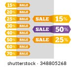 vector sale labels tags... | Shutterstock .eps vector #348805268