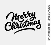 merry christmas  xmas badge... | Shutterstock .eps vector #348809303