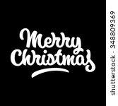 merry christmas  xmas badge... | Shutterstock .eps vector #348809369